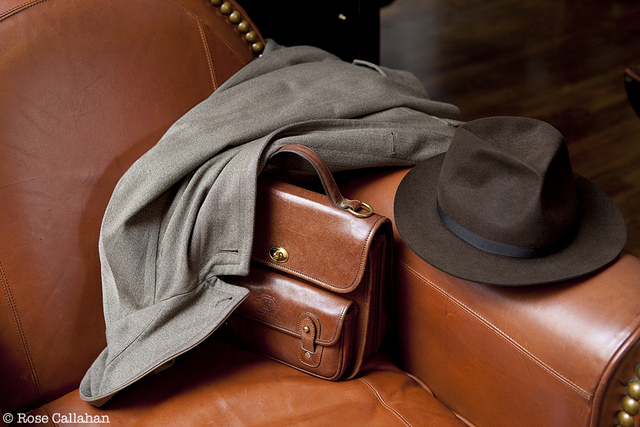 Hat and Briefcase