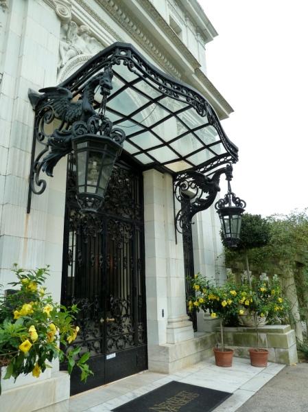 Rosecliff Entrance by Ramona Flightner