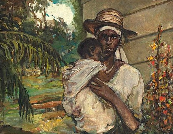 """Mother and Child"" by William Eduoard Scott"