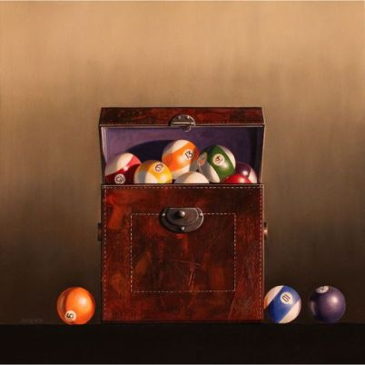 Painting of Pool Balls by Wendy Chidester