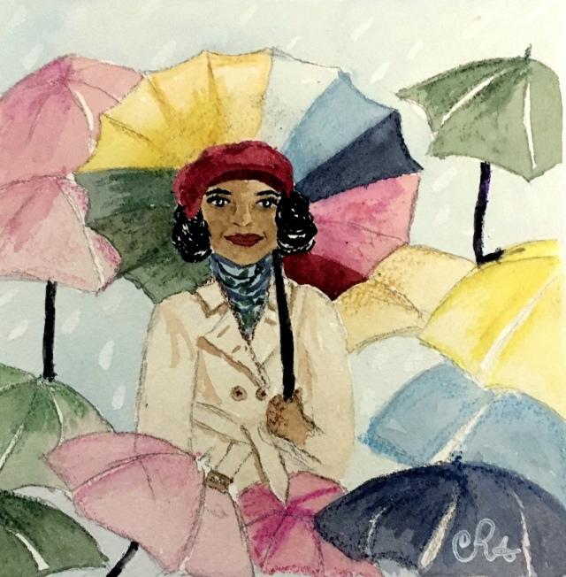 Cecily Dreams of Umbrellas by Cindy Adelle Richard